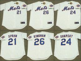 Wholesale Men white WARREN SPAHN ART SHAMSKY DAVE KINGMAN New York Mets Throwback Away Baseball Jersey stitched