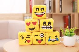 Wholesale New cm emoji plush toys cartoon inches Plush Dice emoji Rubik s cube Stuffed Animals pendant EMS C1320