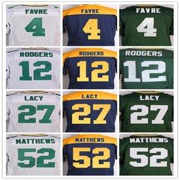 Wholesale Best quality jersey Men s Brett Favre Aaron Rodgers Eddie Lacy Clay Matthews Jordy Nelson elite jerseys Size