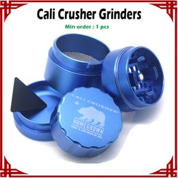 [ sp ] 1 pc Cali Crusher Grinders 40mm 53mm Aircraft Aluminum Herb Grinders 4 Layers VS Lighting Grinders