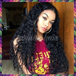 Long Kinky Curly Glueless Full Lace Wigs Virgin Peruvian Deep Curly Hair Wig Full Lace Front Human Hair Wigs