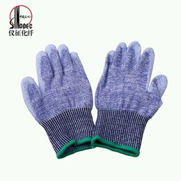 Wholesale Sinopec Yizheng Chemical Fibre Company Limited Lylon UHMWPE Force Polyurethane Coated Nylon Gloves Made From Selected High fiber Fabrics Thr