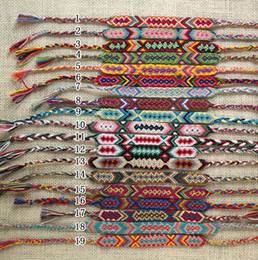 Wholesale New Nepal Colorful Hand woven Bracelets Vintage Style Colorful CM Width Cotton Knitted Unisex Friendship Bracelet