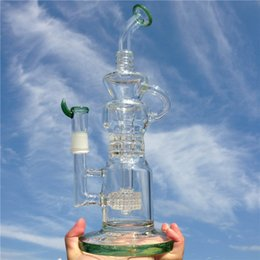 Acheter en ligne Gb pouces-Le tube d'eau de bong du gass de recycler d'arrivée le plus récent pour l'usage quotidien de fumer avec l'articulation mâle de 13 pouces 18mm (ES-GB-036-2)