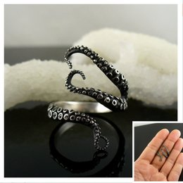 Deep sea octopus ancient silver plating fashion rings fine jewelry to open the adjustable size