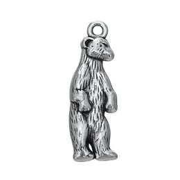 Wholesale My Shape Fashion Jewelry Series Zinc Alloy Antique Silver Plated Online White Bear Shaped Animal Charms