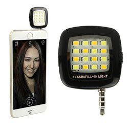 Wholesale Smart Torch Light - Selfie Light Torch Mini Portable Selfie Flash Light 16 LEDS Flash Fill Light Match With Selfie LED For Smart Phone