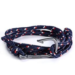 Wholesale Bracelets en gros Miansai Gun crochet noir amoureux de la main corde à la main Nylon rouge noir Crochet bracelet Bracelet Crochet de poissons pour hommes
