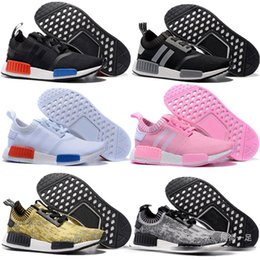 wholesale men sport with best reviews - 2016 NMD Runner Sports Shoes Men Woman NMD Running Boost fashion Popcorn running shoes with Box C1541