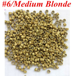 1000pcs Bag 5.0mmx3.0mmx3.0mm Micro Aluminium with Silicone Rings Links Beads For Hair Extensions tools 8 colors