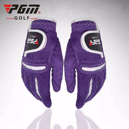 Wholesale PGM Women Golf Gloves High Quality Lady Microfiber Leather Cloth Golf Glove Left Hand Right and Hand Ladies Golf Sport Gloves