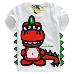 Summer New Children Clothing Cartoon dinosaur Kids clothes tshirt boys girls t shirts printing tshirt baby tops 2~8 year