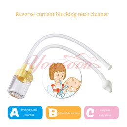 Wholesale New Born Baby Safety Adjustable suction Nose Cleaner Vacuum Suction boys girls unisex Nasal Aspirator easy clean