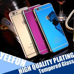 Compra Online Iphone vidrio de alta calidad-Alta calidad electrochapado Colorido vidrio templado frente trasero de vidrio templado protector de pantalla de película para iPhone 7 más 6s Front + Back