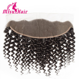 Wholesale 7A Beyonce Curl Deep Curly Wave Unprocessed Human Hair Lace Frontal Non Processed Top Closure Misu Hair Product Bnundle
