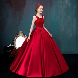 wine red round neck beading satin ball gown medieval dress Renaissance gown Sissi princess Victorian Marie Belle Ball