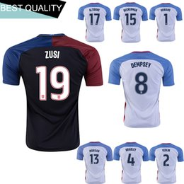 Wholesale 16 high quality men s soccer NJ United States national team jersey shirt DEMPSEY Beckman World Cup soccer jerseys be