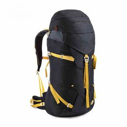 Wholesale 45L Article Aluminum Ultralight Outdoor Bag Professional EVA Rear Panel Backpacks With Rain Cover Backpack Travel Hiking Bags