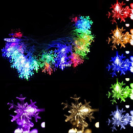 220V 5M 28 LED Snowflake String Fairy Light Christmas Party Wedding Decoration #B591
