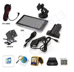 Wholesale 7 quot RAM G Car GPS Navigation Bluetooth AV IN Reverse Camera Map LED Night Vision CCD Car Rear View Camera Parking Monitor