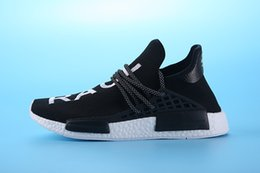 Wholesale 2016 new arrival best quality NMD Human Race shoes sports shoes Pharrell Williams running walking sneakers black color