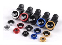 Wholesale 3 in Universal Clip Fish Eye Wide Angle Macro Phone Fisheye Acrylic Optical Glass Camera Lens For iPhone Samsung Best quality