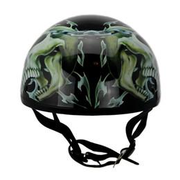 Compra Online Cascos de moto de época-scooter de cráneo de la motocicleta de la nueva vendimia de la vendimia casco de moto casco de Moto Harley abierta de la cara medio retro Cascos