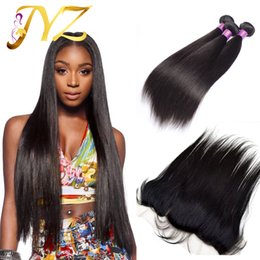Brazilian Straight Hair With Closure Full Lace Frontal 3 Bundles With Frontal Closure Hair Bundles With Lace Frontals
