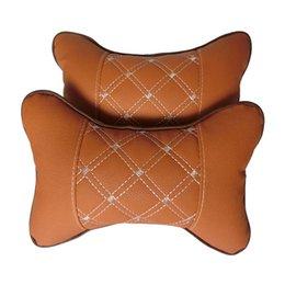 Wholesale Car headrest auto supplies neck car pillows bone Car care cervical pillow Car seat Brown