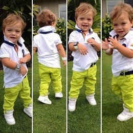 Kids Clothes Short Sleeve and Pants Boys Set 2016 Children Clothing Casual Style Boys Clothes Lapel Kids Boys Summer Sets