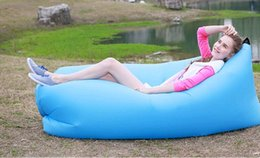 Wholesale Fast Inflatable Chair Lounger Sleep Camping Sofa Beanbag Beach Fabric Lounge Lazy Sleeping Bag Bed Outdoor garden sofa colors