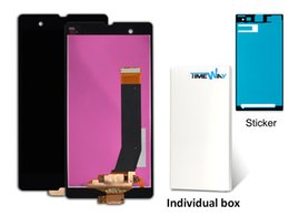 Wholesale For Sony Xperia Z L36h LCD C6606 C6603 C6602 C660x LCD Display Touch Screen Digitizer Assembly individual package