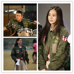 Promotion voler v Automne-Mode Hommes MA-1 Bomber Jacket Army Green bleu noir Veste mince Etats-Unis MA-1 hommes et les femmes de vol porter veste