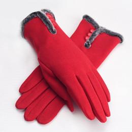 Écrans pourpres en Ligne-Gants hiver gants de tricot pour femmes avec écran tactile de conception haute qualité gants de femme chaude à l'extérieur noir blanc gants plaid gants pourpre
