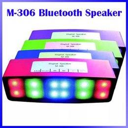 New M-306 Bluetooth Speakers Portable Wireless LED Light Flash Loud Speaker Bulit-in Mic Handsfree Speakers Support TF FM Pking