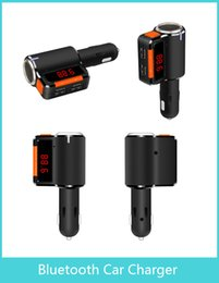 Wholesale Original FM transmitter Car Bluetooth Charger for Dual USB Charger Car Mp3 wma Player Auto Audio Kit Vehicle Stereo with packaging