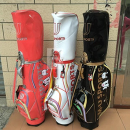 the newest 2016 sale new m.u golf female ball bags red black white wholesale girl m-u golf bags fashion brand golf bag free shipping