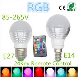 2016 Newest Design 3W RGB Lampada LED Bulb E27 85-265V RGB LED Lamp E27 220V 110V Spotlight Lamparas LED Light Bulb E14