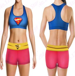 Camisoles Superman Camisoles Bleues Rouges Camisoles Running Tops Camisole Golden Superman à partir de gilet rouge pour fournisseurs