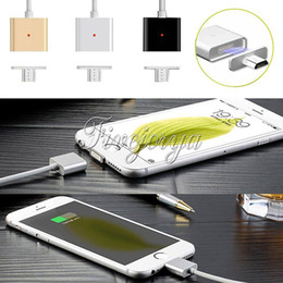 Wholesale 1M CNC metal Newest Hot Sale black gold silver Micro USB Charging Cable Magnetic Adapter Charger Charging for Android Samsung