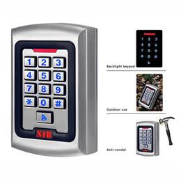 Wholesale SIB Backlight Keypad Metal Shell IP68 Waterproof RFID KHZ EM Card Door Access Controller For One Door Cards Code Card Code F1257D