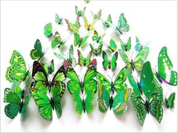 2016 small fresh green refrigerator 12   simulation butterfly set simple modern floral decorations ornaments free shipping