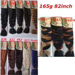 Xpression Synthetic braiding Hair 82inch 165g single color Ultra Braid Premium Kanekalon jumbo braiding hair extensions