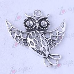 Owl charms antique Silver bronze alloy zinc Pendant DIY jewelry pendant fit Necklace 40pcs lot 3496