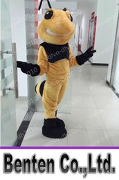 Wholesale VO126 Real Photos Customized The Hornet Bumblebee Mascot Carton Costume Carnival Party Carnival Halloween Outfits Holiday Event Performance