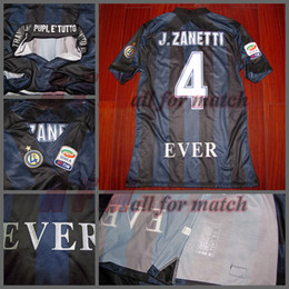 Wholesale Serie A JC4 EVER Zanetti retire Match Worn Player Issue Shirt Jersey Short sleeves Soccer Football Custom Patches Sponsor