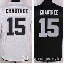 Wholesale 15 Michael Crabtree Okaland Michael Crabtree Jersey white black size small S XL stitched