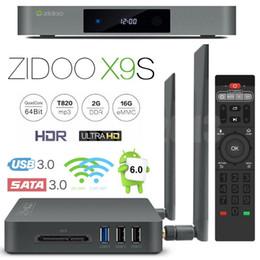 Wholesale Zidoo X9S Android TV Box GB RAM GB ROM Realtek RTD1295 Quad Core Smart Mini PC G G Wifi Bluetooth HDMI A ZDMC VS KODI
