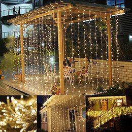 Wholesale 8 Mode Window Curtain Icicle Light LED M String Light Christmas Wedding Party Decoration Lights AC110V V Fairy LED Lights With Plug