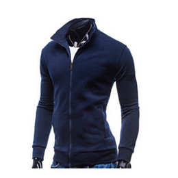 Wholesale-2016 Hoodies Men Winter Sweatshirts Brand Jackets Zip Hoodie Sport Suit Moleton Masculino Black Men Tracksuits 50525014A